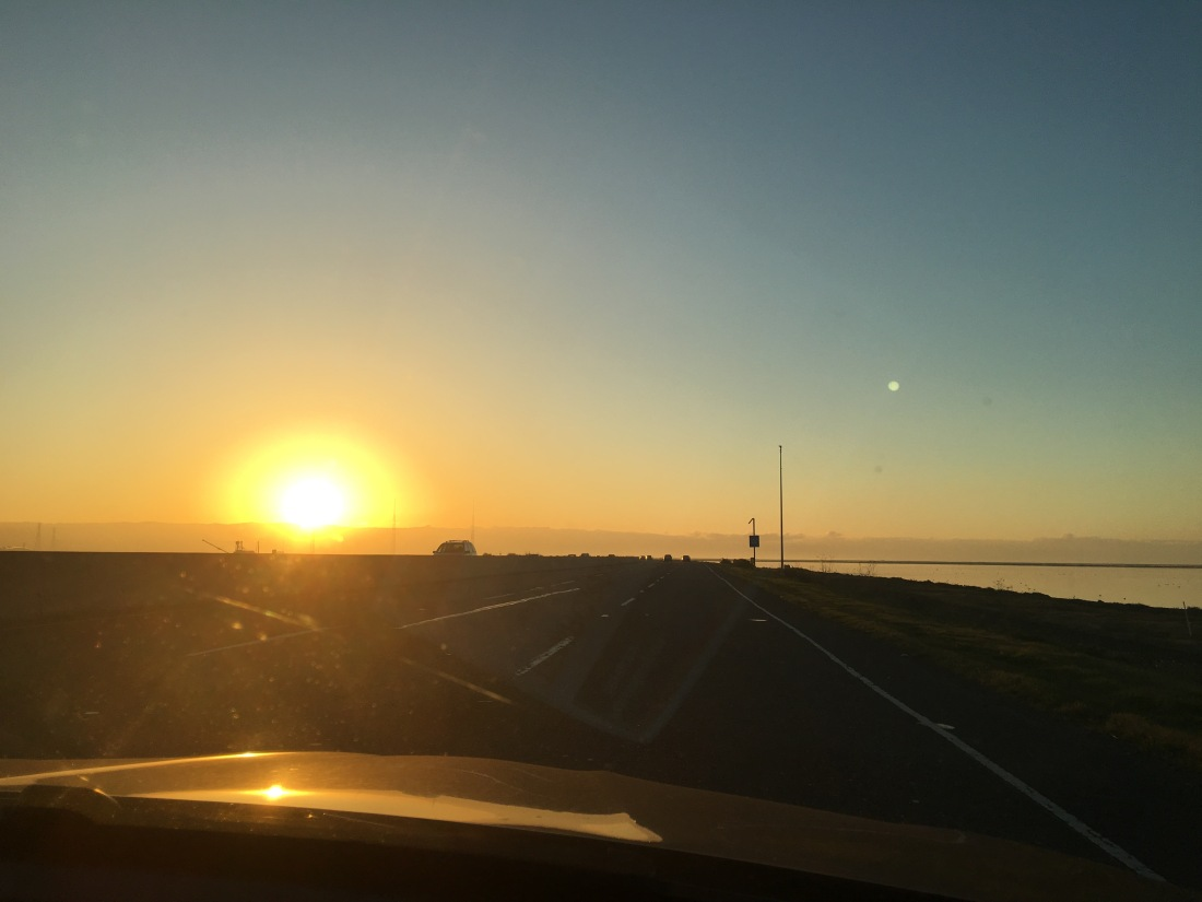 Sunset over Dumbarton bridge