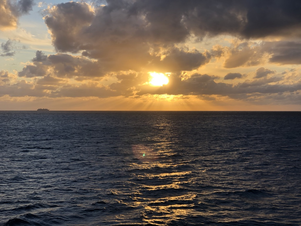 Glorious sunsets seen from the ship